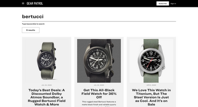 "Bertucci Field Watches Featured on ""The Gear Patrol Store"""