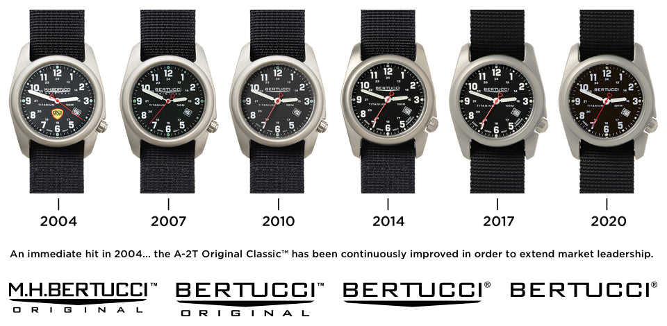 Progression of the Bertucci Ultimate Field Watch