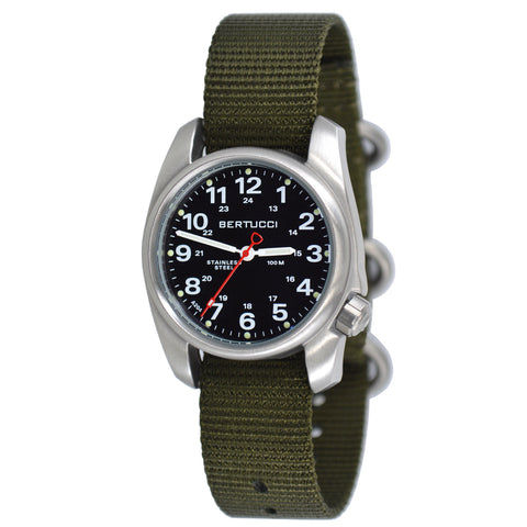 #10112 A-1S Field™ - Black Dial, Defender Olive™ Nylon Band