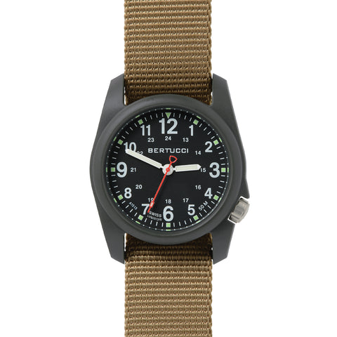 #11027 DX3® Field™ - Black Dial, Coyote Nylon Band