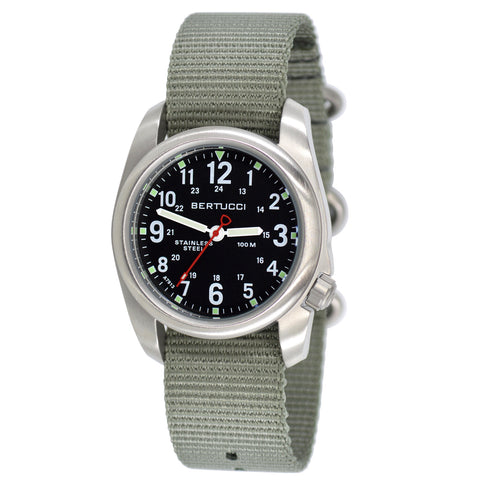 #11051 A-2S Field - Black dial, Defender Drab Nylon Band