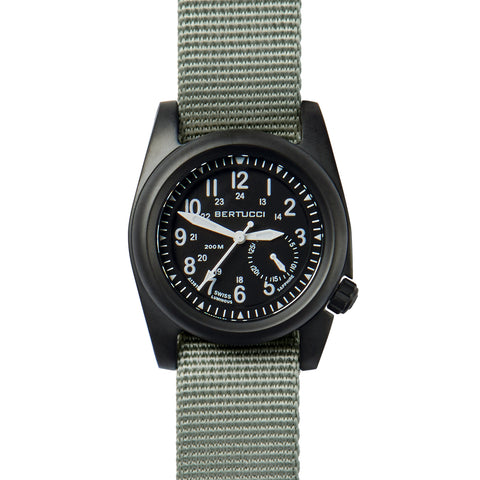 #11085 A-2S Ballista Matte Black dial - Defender Drab Nylon Band