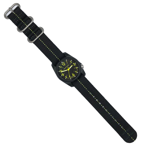 #11094 DX3® Plus™ - Black w/ High-Viz™ Yellow Dial, Black w/ High-Viz™ Yellow Nylon Band