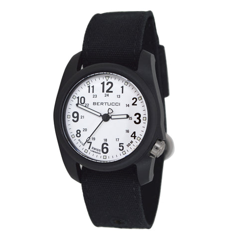 #11095 DX3® Canvas™ - White Dial, Black Comfort Canvas™ Band