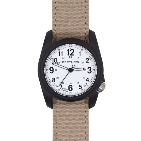 #11096 DX3® Canvas™ - White Dial, Sand Comfort Canvas™ Band