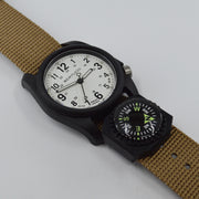 #11104 DX3® Compass™ - White Dial, Coyote Nylon Band