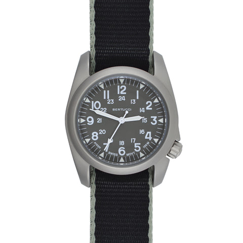 #11503 A-2S Vintage - Field Drab dial - Black w/ Drab edging Comfort-Webb™ Band