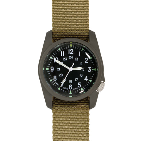 #11601 A-2RA RETROFORM™ - Black Dial, RETROFORM™ KHAKI Nylon Band