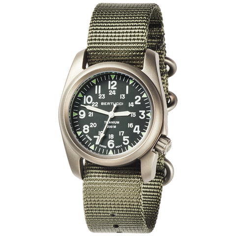 #12030 A-2T Vintage Marine Green - Defender Drab Nylon Band + Free Band & Shipping