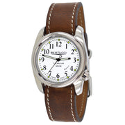 #12140-E A-2T Bianco HP - Arctic White™ Dial, Nut Brown HP Leather Band