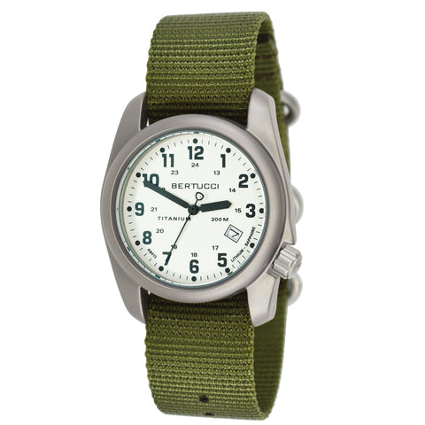#12070 A-2T Luminous Classic - Swiss Super Luminous w/ Forest Nylon Band