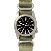 #12099 A-2T NATO Black - NATO Drab Nylon Band