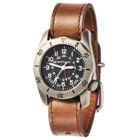 #12120 A-2TR Vintage GMT Black dial - Legacy Horween® Leather Band