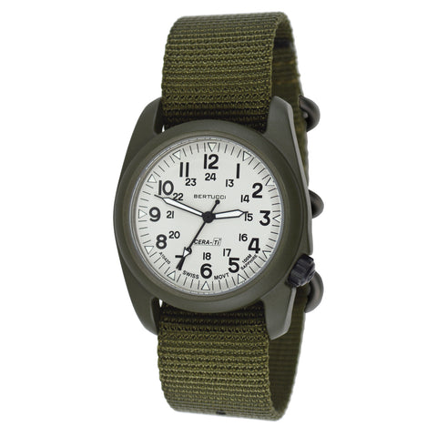 #12135 A-2CT Cera-Ti - Rhino Gray Dial / OD Green Case - Defender Olive Nylon band