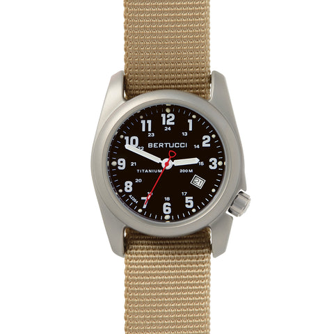 #12202 A-2T Original Classic - Black w/ Defender Khaki Nylon Band