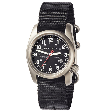 #12722 A-2T Super Classic Black - Black Nylon Band + Free Band & Shipping