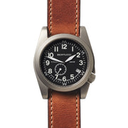 #13335 A-11T Americana Black w/ sub sec. - American Tan Horween Leather Band