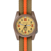 #13376 Gamekeeper - Sand Dial / Khaki Case w/ Coyote/Blaze Nylon Band
