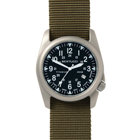 #13478 A-4T Super Yankee Black - Defender Olive Nylon Band + Free Band & Shipping