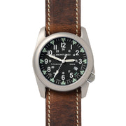 #13482 A-4T Super Yankee Illuminated Black - Nut Brown Horween® Heritage Leather Band + Free Band & Shipping