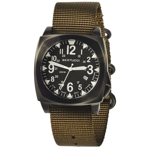 #13601 E-1S Ballista Black - Defender Olive Nylon Band
