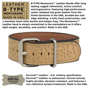 #13332 A-11T Americana Black - Coyote Survival Leather Band