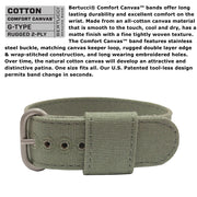 #11090 DX3® Canvas™ - White Dial, Spruce Comfort Canvas™ Band