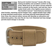 #11088 DX3® Canvas™ - White w/ Ombra Brown™ Dial, Sahara Comfort Canvas™ Band