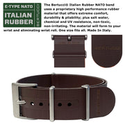 #16512 A-6A Experior Italia™ - White, Marrone Scuro Italian Rubber NATO band