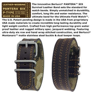 #11507 A-2S Pantera™ Six - Black dial - Ironstone Brown w/ Khaki Stitch Band