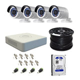 Hikvision 4 Channel Turbo DVR with 1TB HDD & 4 Cameras DIY CCTV Kit