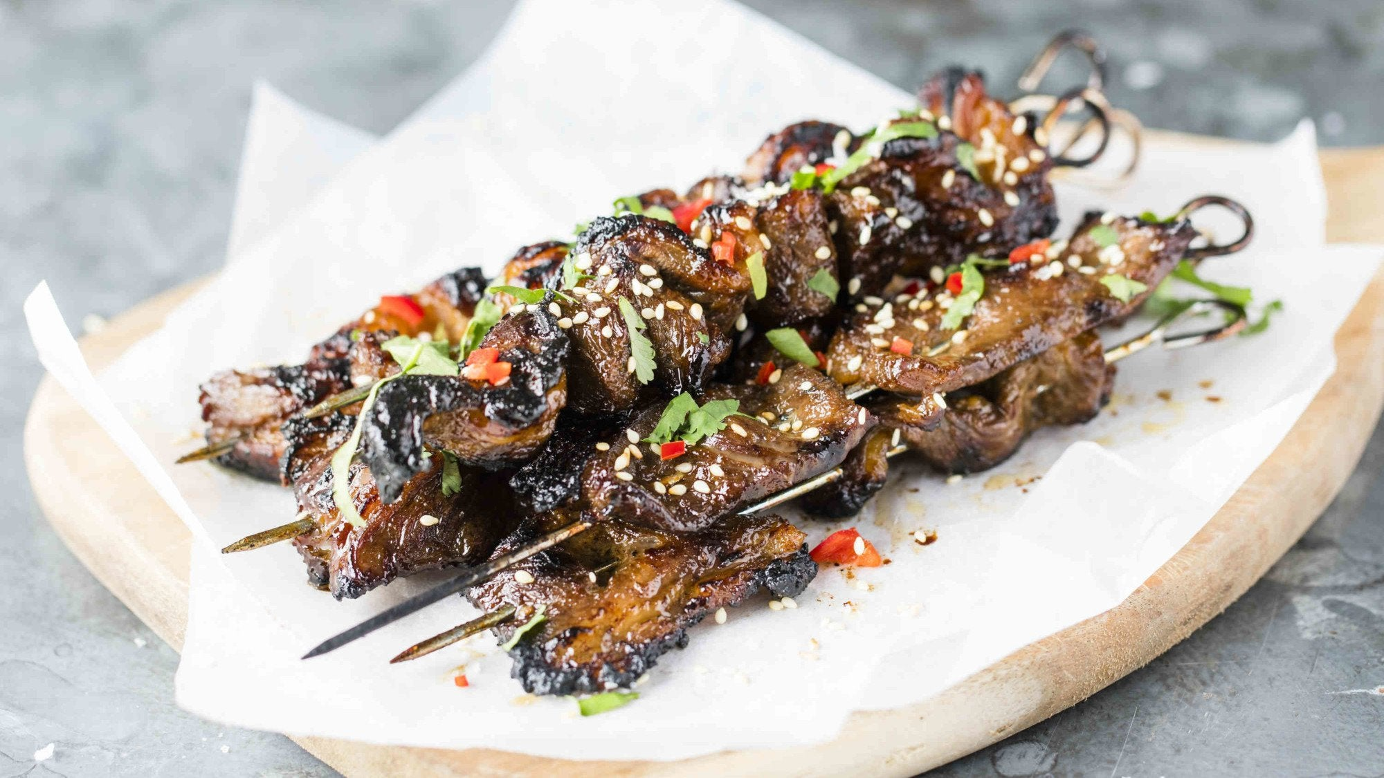 Hoisin Beef Short Rib Skewers