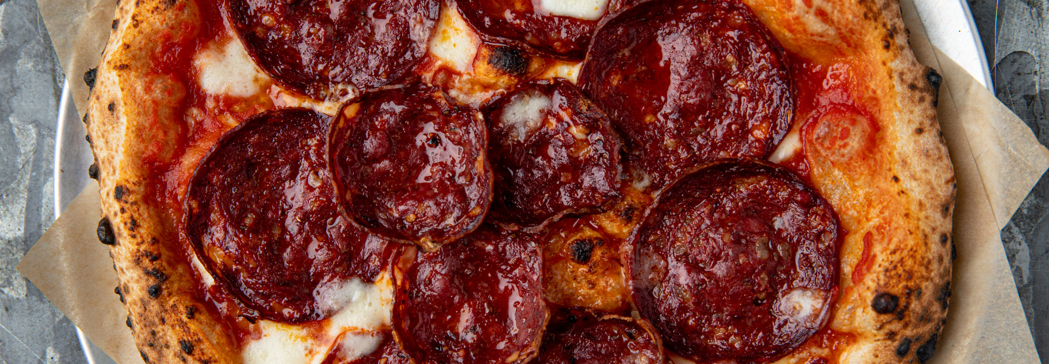 Venison Pepperoni & Hot Honey Pizza