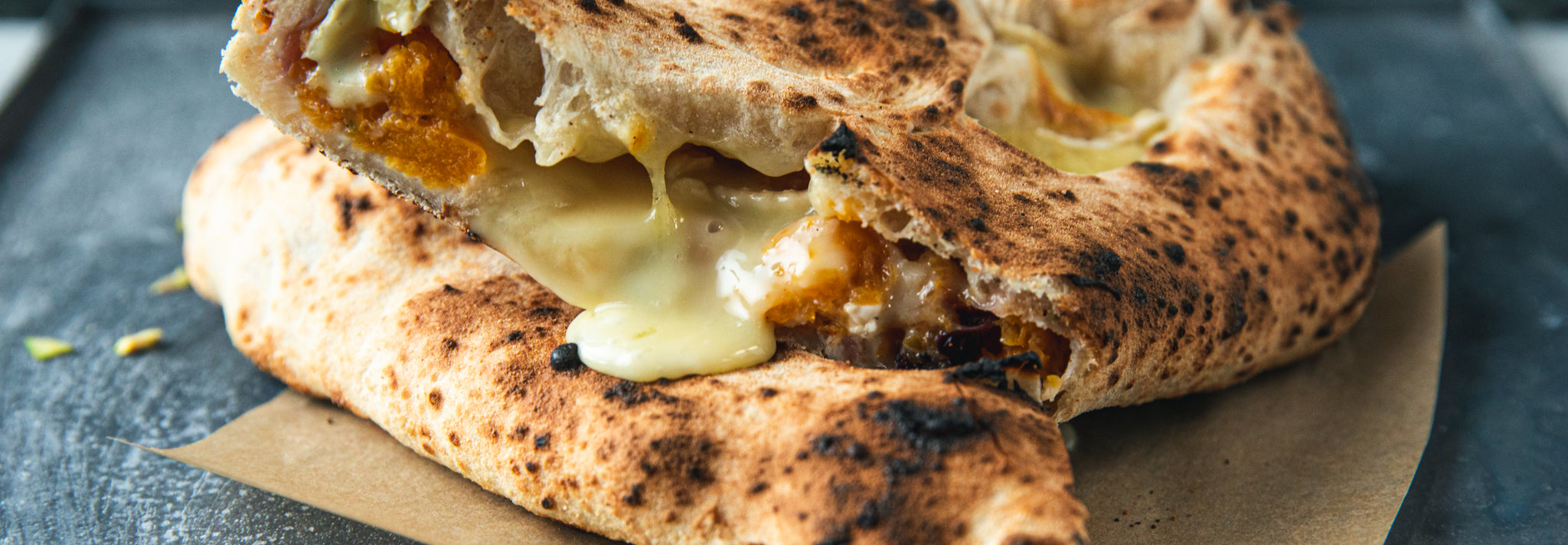 Camembert & Stuffing Calzone