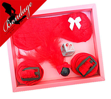 Kit Antifaz Bondage Rojo IneditINEDIT