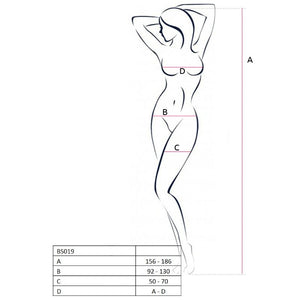 Passion Woman Bs019 Bodystocking Blanco Talla Unica