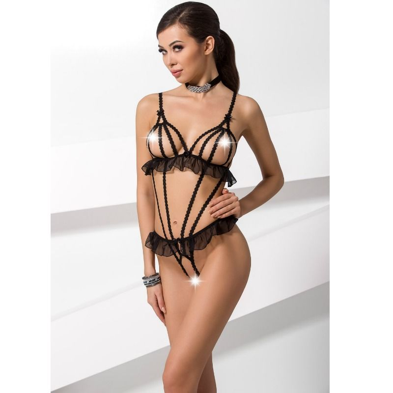 Passion Woman Leila Teddy Negro Talla S/M