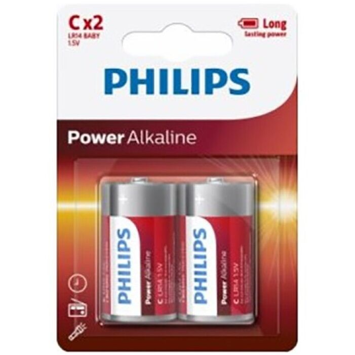 Philips Power Alkaline Pila C Lr14 Blister*2