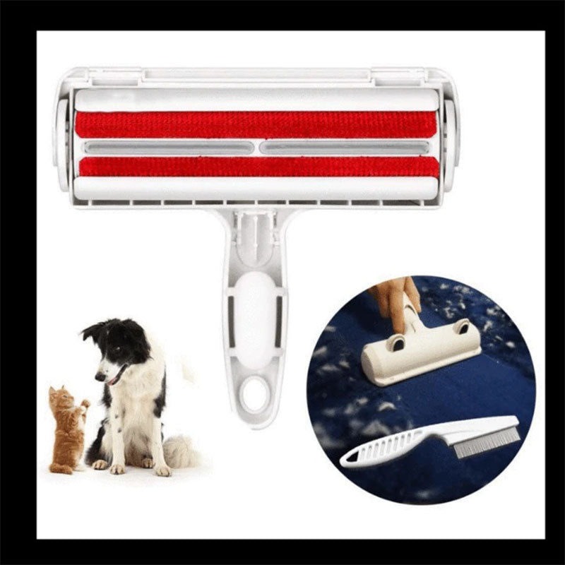 2-Way Pet Hair Remover Roller Lint Sticking Roller Removing