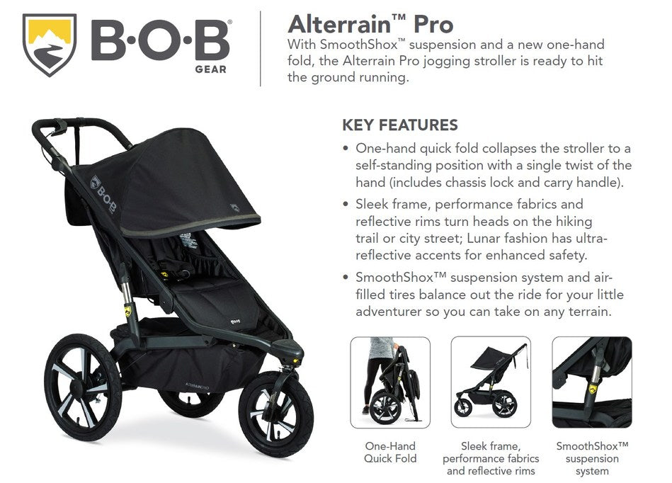 Go Beyond with the New BOB Gear® Alterrain™ Pro Jogging Stroller