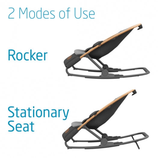 2 Modes of use.  Rocker and Stationary seat