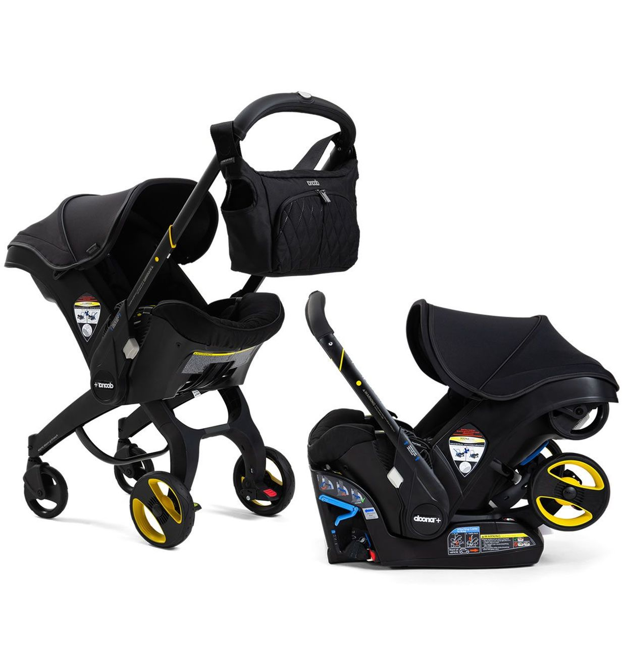 Doona Infant Car Seat with Base - Midnight   The Baby Cubby