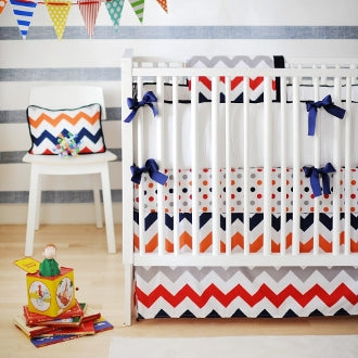 New Arrivals Zig Zag Baby in Rugby Bedding