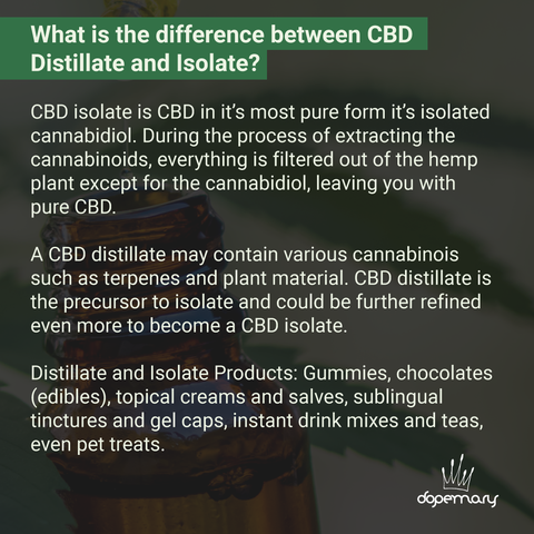 The Difference Between CBD Distillate and Isolate