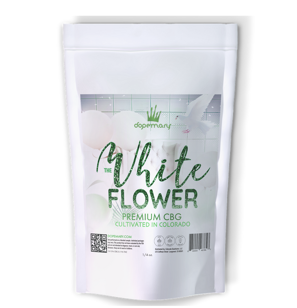 The White CBG Hemp Flower- Organic - Dopemary