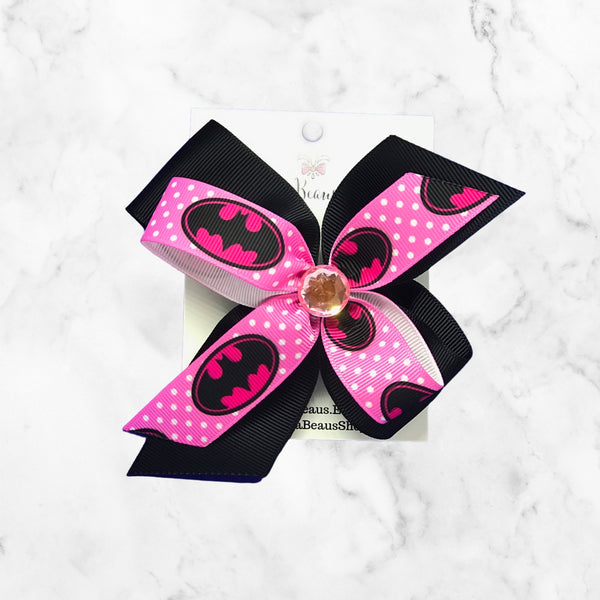 Batman Girls Hair Bow