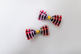 Crayon School Art Pig Tail Bow Set