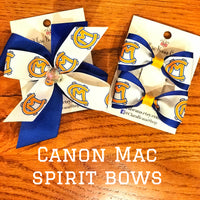 Canon-Mac logo pig tail hair bows - Clara Beaus Co