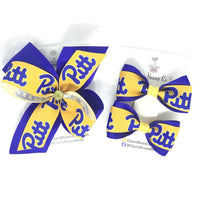 Pitt logo hair bows - Clara Beaus Co