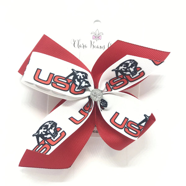 Upper St. Clair logo hair bows - Clara Beaus Co